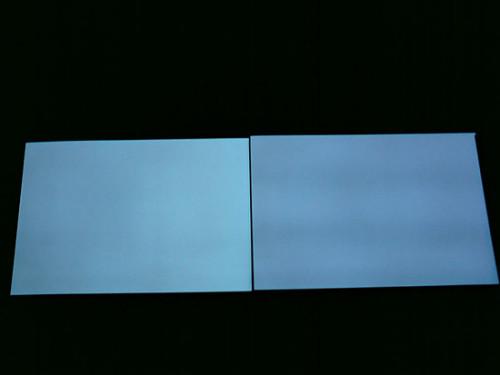 Из-за двух инверторов, панели светят не одинаковыми оттенками